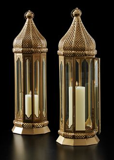 Tall Gold Moroccan Lantern Indian Wedding Event Party Decor