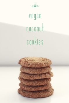 Vegan Coconut Cookies ~ Refined sugar free!// Thrifted