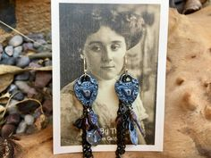 Gothic Heart Locket Owl key charms Artisan Handmade Czech Glass with chain accent earrings by Bohemystic on Etsy Heart Locket, Czech Glass, Artisan Jewelry, Ear Piercings, Earrings Handmade, Turquoise Necklace, Dangles, Gothic, Charms