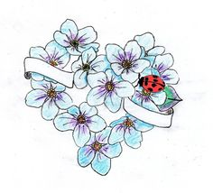 Forget Me Not Tattoo by NIMROD-TIGER.deviantart.com