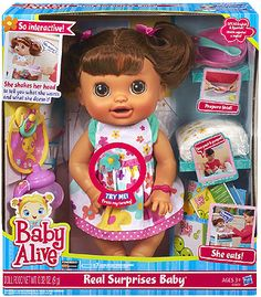 Baby Alive Real Surprises Baby Doll(Discontinued by manufacturer) Muñeca Baby Alive, Baby Alive Dolls, Baby Life, Baby Doll Diaper Bag, Baby Doll Strollers, Cabbage Patch Babies, Toddler Girl Gifts, Baby Doll Nursery, Baby Doll Accessories