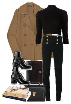 Untitled #9904 by nikka-phillips on Polyvore featuring polyvore, fashion, style, Again, DKNY, Balmain, Chanel, Yves Saint Laurent, Chrome Hearts and clothing
