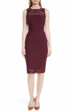 b6517fdfd Main Image - Ted Baker London Verita Cutout Yoke Sheath Dress Ted Baker  Fashion