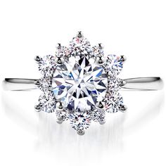 Lady Di Solitaire engagement ring....luv the sparkle and snowflake style,.get me this and Ill be a Happy Girl :o)