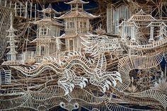 toothpick sculpture - Bing Images