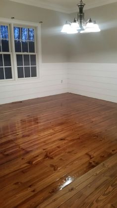 Heart pine provincial minwax stain. Griffin Ga. Hardwood Floor Repair, Installing Hardwood Floors, Refinishing Hardwood Floors, Floor Refinishing, Pine Wood Flooring, Heart Pine Flooring, Pine Floors, Miniwax Stain, Wood Floor Installation