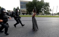 Watch Iconic Protester Ieshia Evans Get Arrested in Baton Rouge protesting old Alton Sterling murder at the hands of Police Officers Tuesday July 2016 Photos by Johnathan Bachman on Saturday July 2016 Baton Rouge Protest, Iconic Photos, Intersectional Feminism, All Black Everything, Black History, Instagram, Image, Law Enforcement, Revolution Quotes