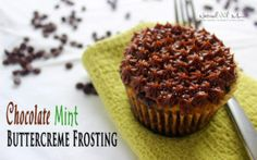 Delicious classic recipe, this time featuring chocolate mint buttercreme frosting! A drop of Peppermint essential oil has been added for a burst of flavor! #essentialoil #doterra #naturaloilmom