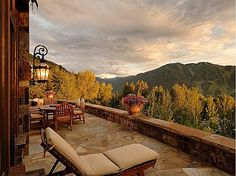 A view like this is all we need to fall in love with the great outdoors! #Colorado #porch #home-- If I'd be lucky enough to be blessed with this added luxury; I'll be beyond grateful!