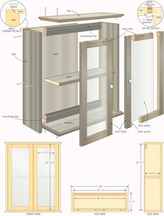 Free Woodworking Plans Bathroom Cabinets Quick Woodworking regarding proportions 1000 X 1313 Bathroom Wall Cabinet Plans - An increasingly popular design Woodworking Furniture Plans, Woodworking Projects That Sell, Popular Woodworking, Diy Woodworking, Woodworking Machinery, Woodworking Classes, Woodworking Quotes, Intarsia Woodworking, Woodworking Magazine