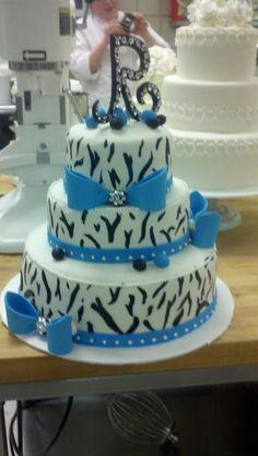 beautiful zebra wedding cake