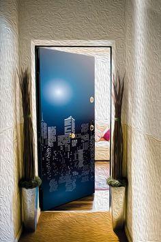Door sticker – Full moon