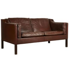Large Two Seats Borge Morgensen Sofa Model 2212   From a unique collection of antique and modern canapes at http://www.1stdibs.com/furniture/seating/canapes/