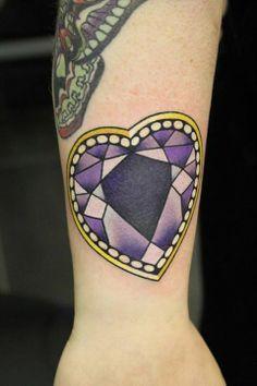 Diamond Heart Tattoos on Pinterest