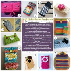 25 Free Crochet Patterns for Cases compiled by Oombawka Design | #crochetpatterns featured by CrochetStreet.com