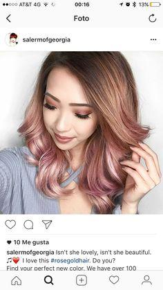 Hair rosegold
