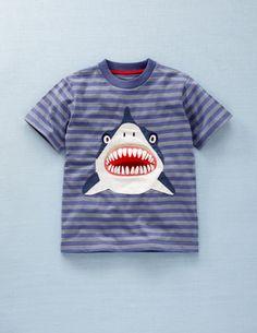 shark applique tee