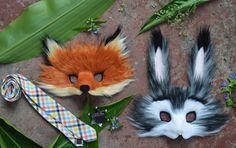 Judy Hopps y Nick Wilde imitación piel máscaras, modelado después de Zooptopia