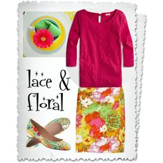 """""""Lace & Floral"""" by deneet on Polyvore"""