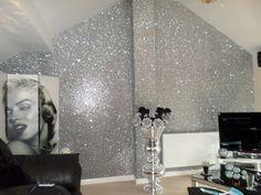*SAMPLE* Glitter Wallpaper - Chunky Fabric - Gold, Silver, Black, Grey & Pink | Home, Furniture & DIY, DIY Materials, Wallpaper & Accessories | eBay!