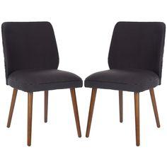 Safavieh Ethel 18''H Linen Dining Chair (Set Of 2), Green