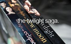 As much as people make fun, I adore the twilight series!