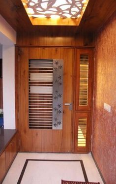20 Ideas main door design entrance indian with grill Home Door Design, Grill Door Design, Door Gate Design, Door Design Interior, Wooden Door Design, Foyer Design, Front Door Design, Wooden Doors, House Design