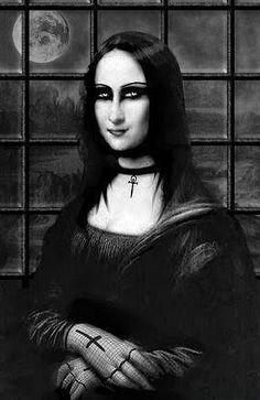 Mona Dark [CeSaRts] (Gioconda / Mona Lisa) This is more funny than dark or eerie, but I thought it was cool. Lisa Gherardini, Dark Fantasy, Fantasy Art, Dark Side, Estilo Dark, Art Occidental, Mona Lisa Parody, Mona Lisa Smile, Artists