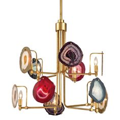 The Gallery Chandelier is part of a line focused on designs that incorporate current trends, inviting color palettes, and uncommon organics to create beautiful collections.    Antique Gold Leaf
