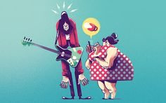 From an illustration series about some parents' bad behaviour on Facebook
