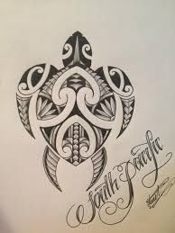 Resultado de imagen para turtle tattoo maori