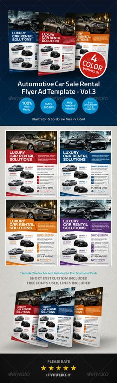 A4 Business Flyer Template Business flyer templates, Business - car for sale template word