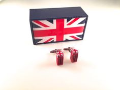 UK Phone Booth Cuff Links Red Telephone Box by BrooklynYards
