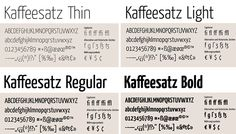 Yanone Kaffeesatz - Czcionki.com