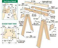 24 free sawhorse plans
