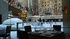 CULINARY ESCAPADE: SEA GRILL. ROCKEFELLER CENTER, NYC.  Made reservations for 2:30p on my birthday - window-side table of course!