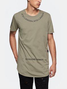 print t-shirt lang groen