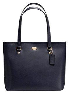 cheap Coach F35204 Xgrain Leather Handbag Nwt Midnight Blue Tote Bag [Coach Handbags113]