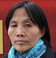 중국 인권 운동가 차오순리의 추모분향소입니다.