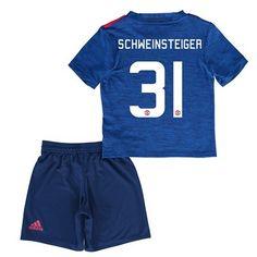 Děti Manchester United 16-17 Bastian Schweinsteiger 31 Venkovní Krátký Rukáv #Fotbalové    #dresy  #levně