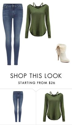 """""""Untitled #449"""" by ootori5sos on Polyvore featuring 7 For All Mankind and Jennifer Lopez"""