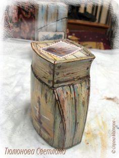 Декор предметов Мастер-класс Декупаж Роспись МК баночки под дерево Банки стеклянные Бумага Краска фото 26