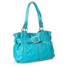 Turquoise belted tote bag - Shopper & tote bags - Handbags & purses - Women -
