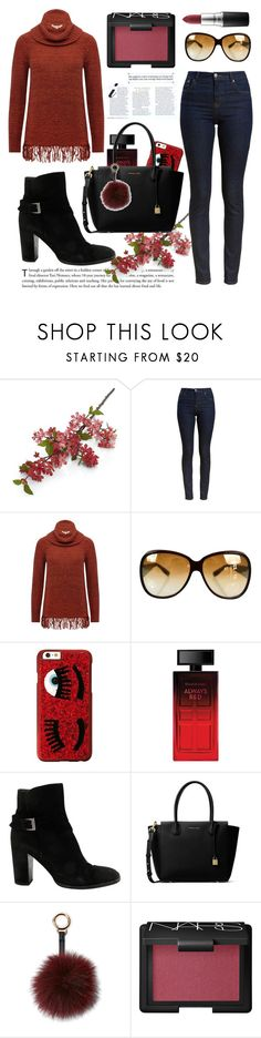 """Untitled #156"" by coffeegirl233 ❤ liked on Polyvore featuring Crate and Barrel, Barbour, M&Co, Bottega Veneta, Chiara Ferragni, Elizabeth Arden, Chanel, MICHAEL Michael Kors, Surell and NARS Cosmetics"