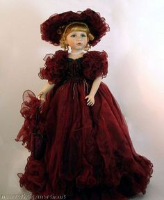 Victorian Limited Edition Porcelain Collectible Doll | eBay