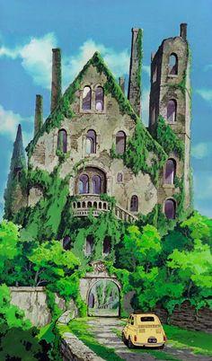 Lupin III - Cagliostro's Castle (Miyazaki movie, before Ghibli). Hayao Miyazaki, Totoro, Studio Ghibli Background, Animation Background, Fantasy Magic, Lupin The Third, Studio Ghibli Art, All Studio Ghibli Movies, Howls Moving Castle