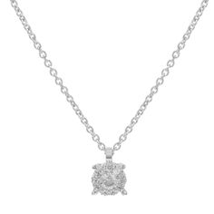 "Bliss by Damiani ""Illusion"" 18k White Gold & 0.08 Cttw Diamonds Pendant Necklace"