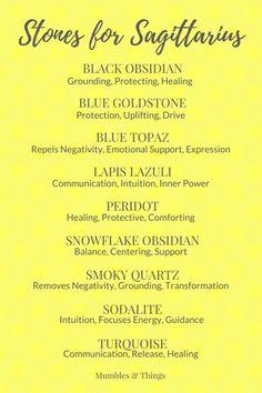 14 Crystals for Sagittarius Astrological Energy Sagittarius Women, Sagittarius Facts, Sagittarius Tattoos, Crystals And Gemstones, Stones And Crystals, Healing Stones, Crystal Healing, Astrology Zodiac, Zodiac Signs