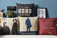 010145-148 Sherlock Holmes Locked/Suicide/With John/Magnifier Heavy Cotton Linen Pillow Cover Back Cushion Cover gift on Etsy, $14.66