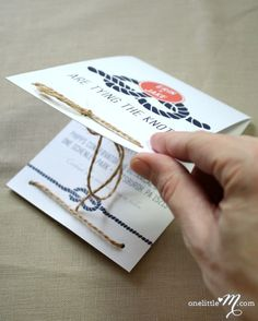 Tie The Knot Modern Invitation Suite SAMPLE ONLY by onelittlem